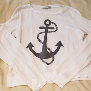 Wildfox anchor jumper size small